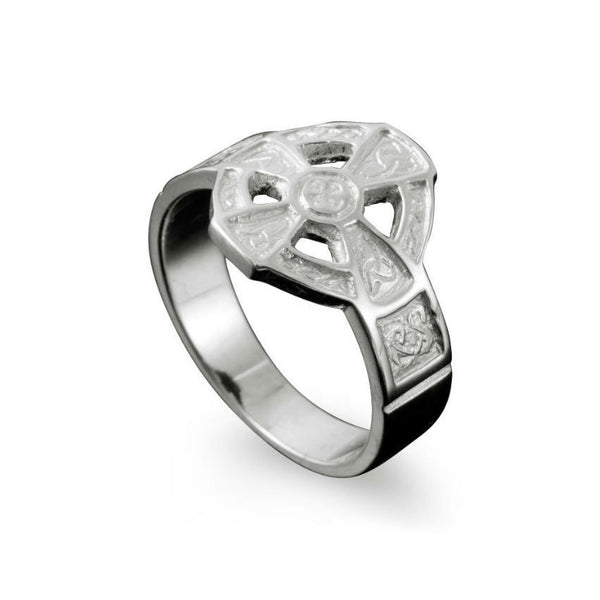 Hildasay Celtic Cross Ring in Sterling Silver