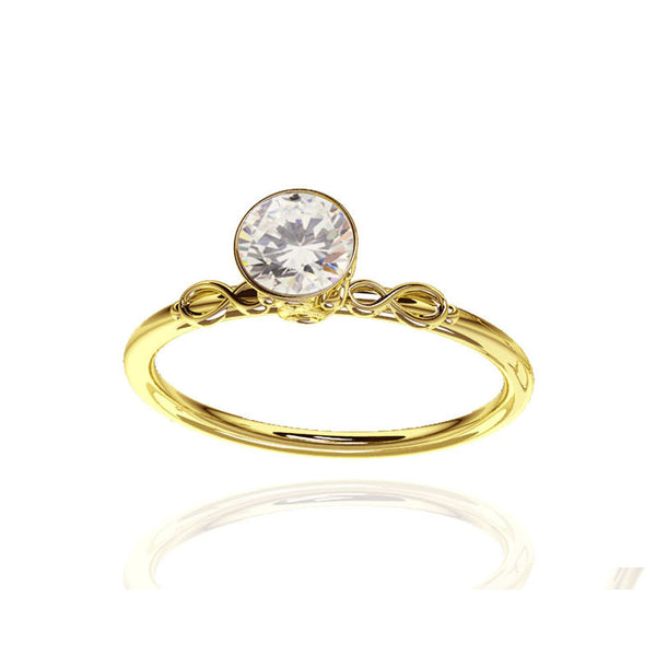 Scottish Infinity Yellow Gold Celtic Engagement  Ring