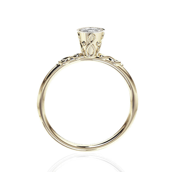 Scottish Infinity Celtic White Gold Engagement Ring