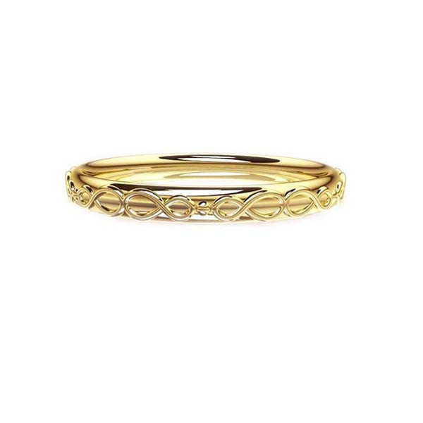 Scottish Infinity Celtic Wedding Ring in Yellow Gold