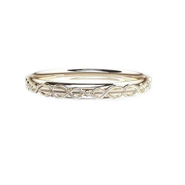 Scottish Infinity Celtic Wedding Ring in White Gold