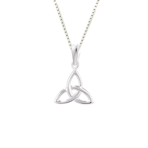 Sterling Silver Small Simple Trinity Pendant