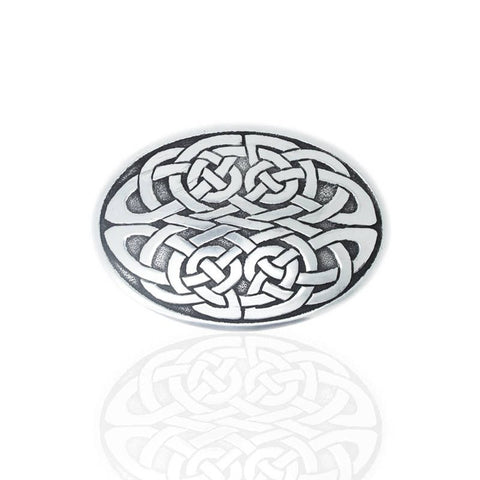 Kells Knot Belt Buckle In Pewter