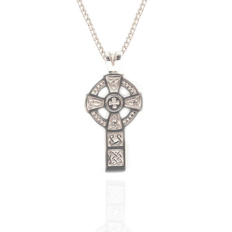 Large Celtic Cross Pendant In Silver