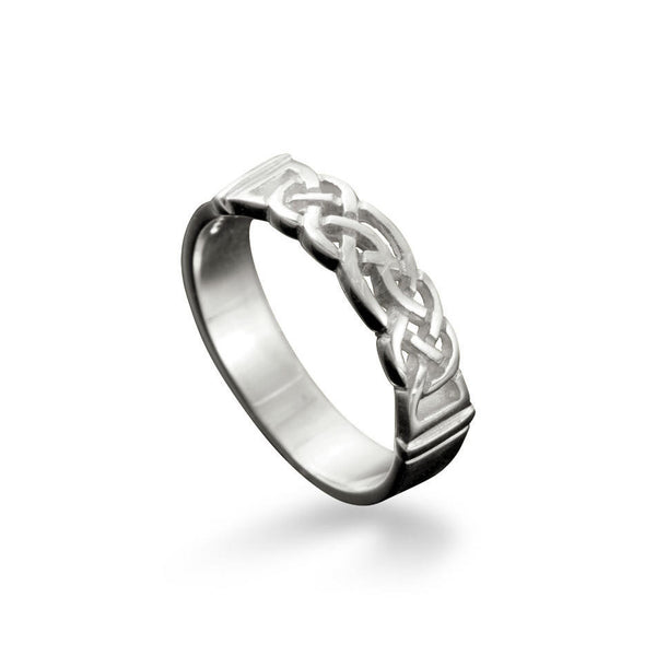Linga Celtic Knotwork Ring Sterling Silver