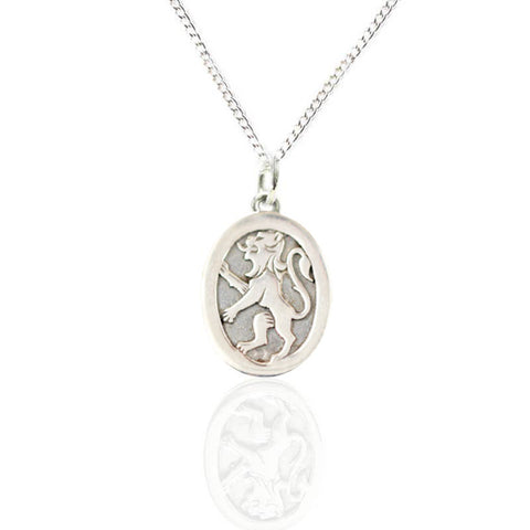 Scottish celtic silver gold pendants necklaces tappit hen lion rampant charm pendant in silver aloadofball Image collections