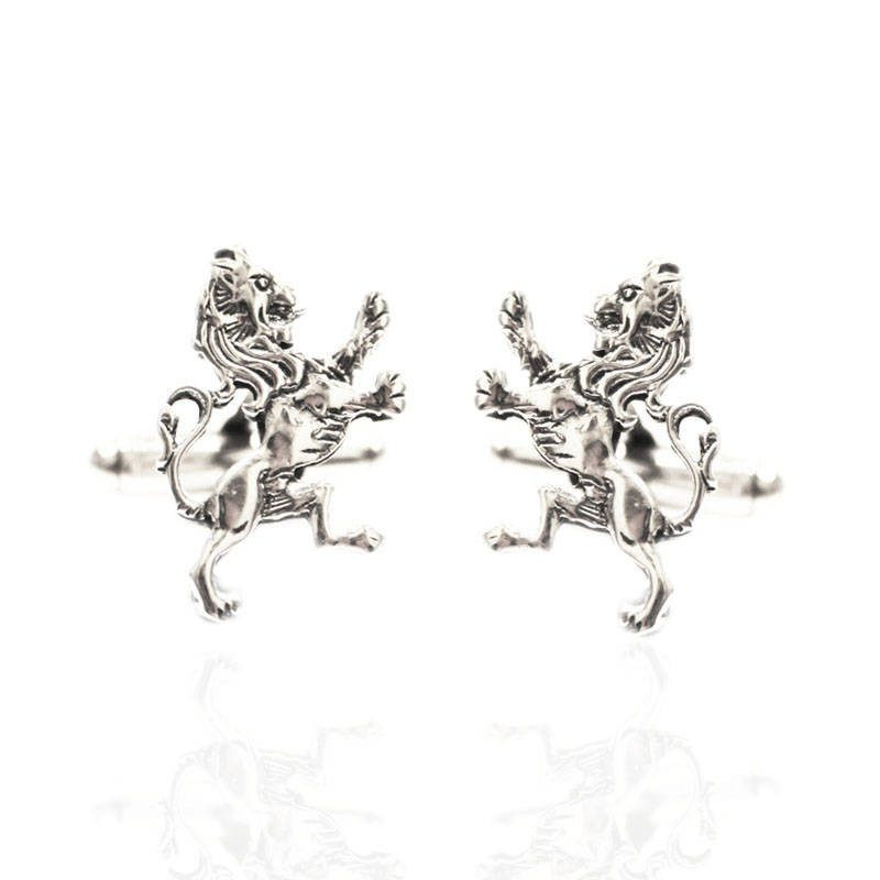 Lion Rampant Cufflinks in Silver