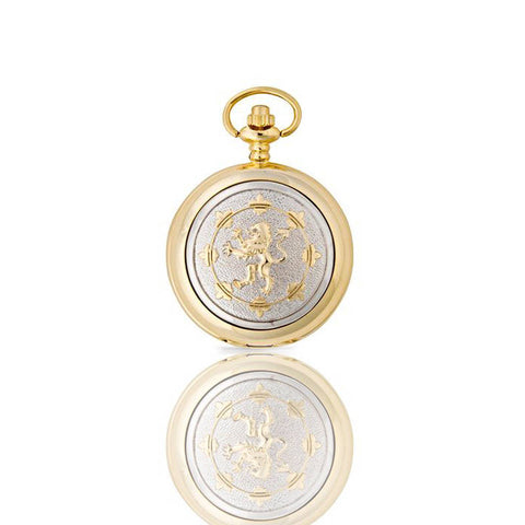 Lion Rampant Mechanical Pocket Watch In Gold