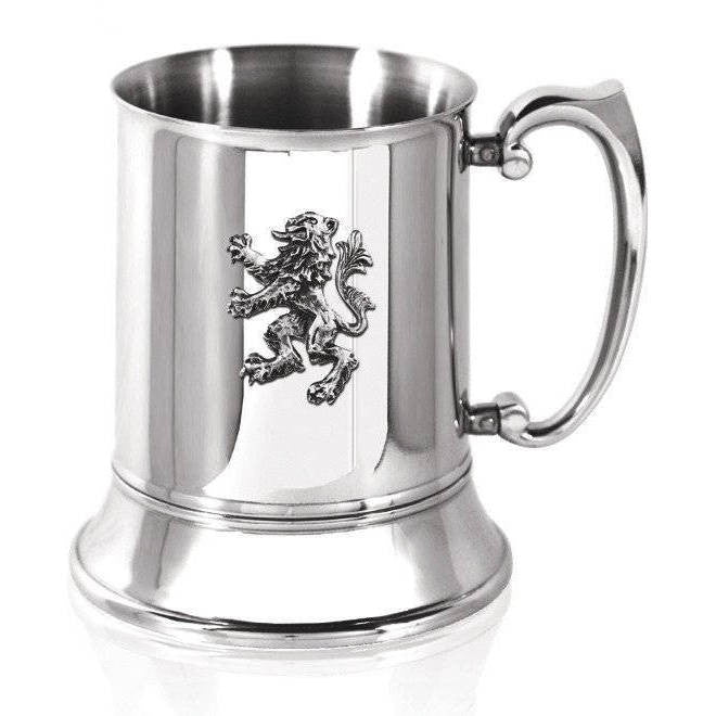 Lion Rampant Tankard in Pewter