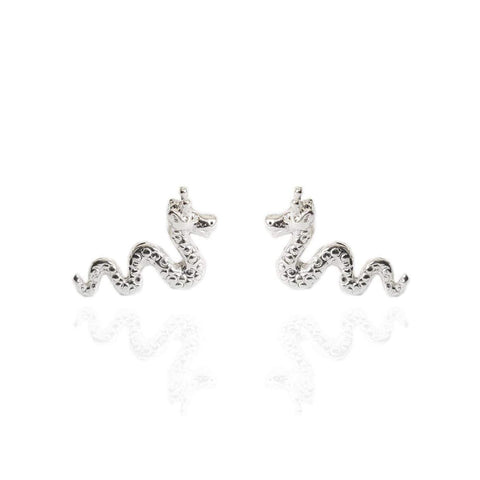 Loch Ness Monster Nessie Stud Earrings