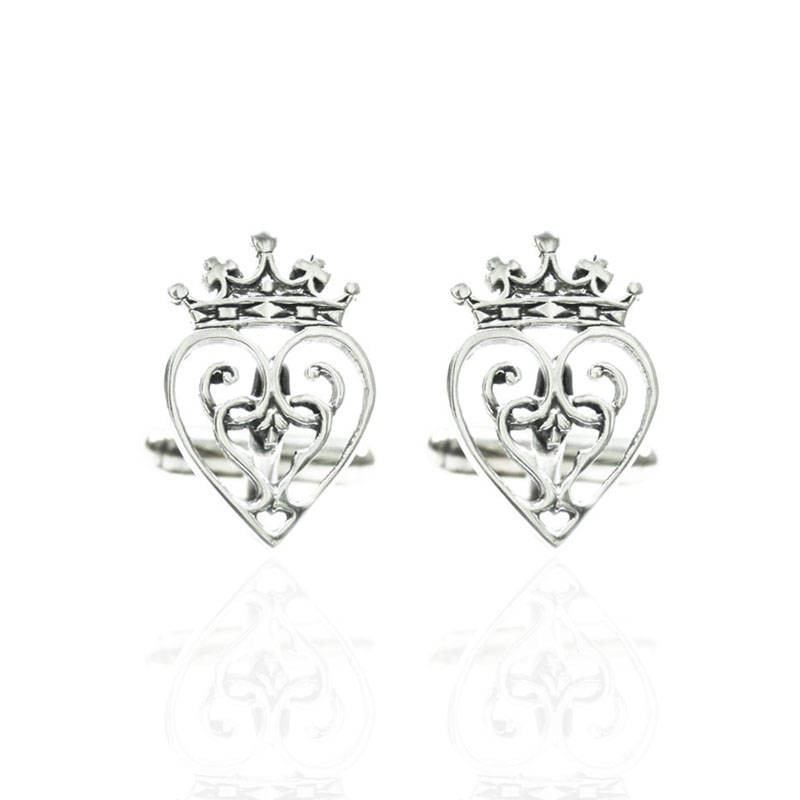 Luckenbooth Cufflinks In Silver