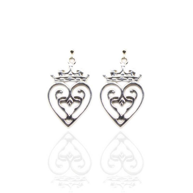 Luckenbooth Earrings in Silver