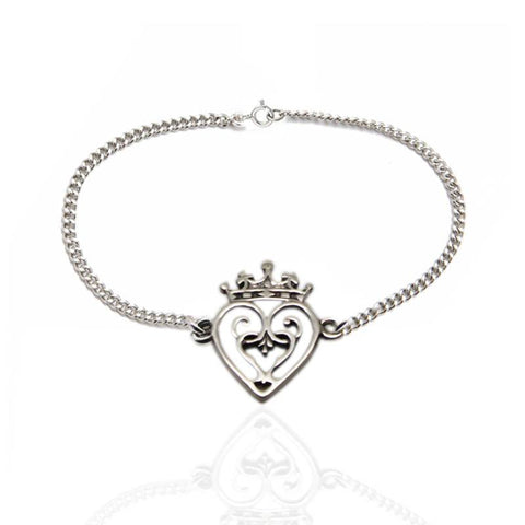 Mary Queen of Scots Luckenbooth Bracelet in Silver