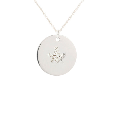 Masonic Compass G Round Necklace