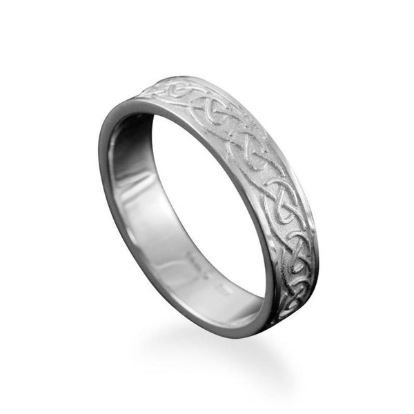 Mousa Celtic Knotwork Ring in Silver