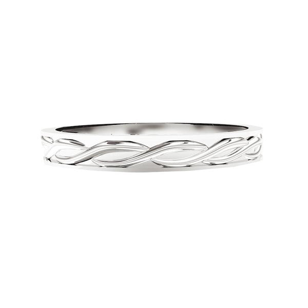 Narrow Celtic Twist Solid Wedding Ring
