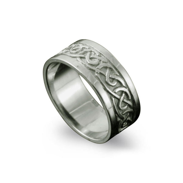 Noss Celtic Knotwork Ring Platinum