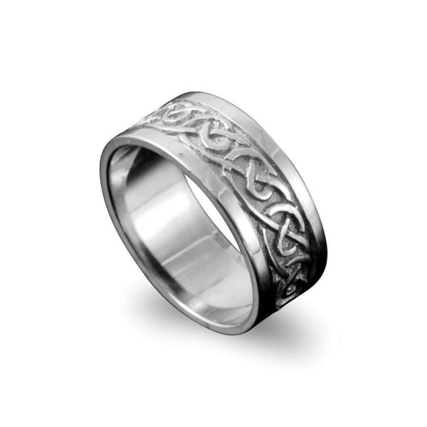 Noss Celtic Knotwork Ring Sterling Silver