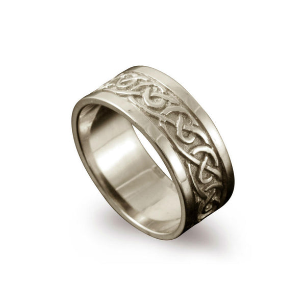 Noss Celtic Knotwork Ring White Gold