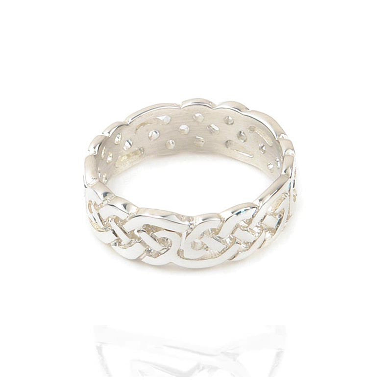 Celtic Knotwork Ring In Silver