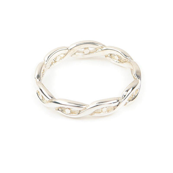 Celtic Eternal Knot work Twist Ring in Silver