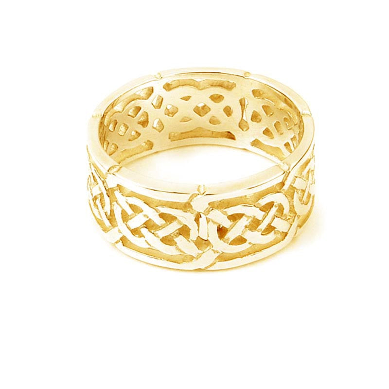 Celtic Eternal Knot work Loop Ring