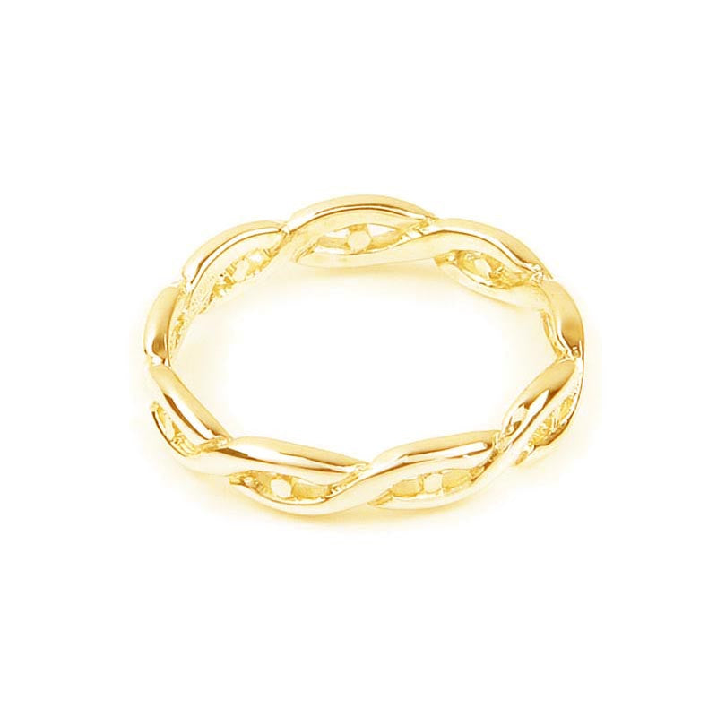 Celtic Eternal Knot work Twist Ring