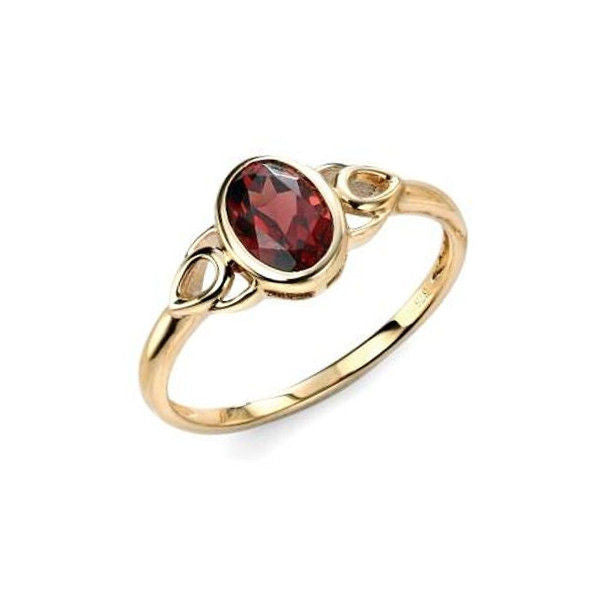 Oval Stoneset Ring with Teardrop Detail in Yellow Gold - Tappit Hen Gallery - 1