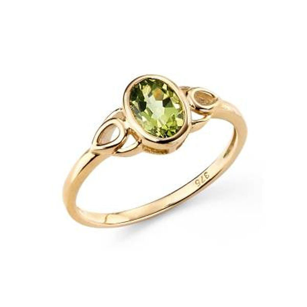 Oval Stoneset Ring with Teardrop Detail in Yellow Gold - Tappit Hen Gallery - 2