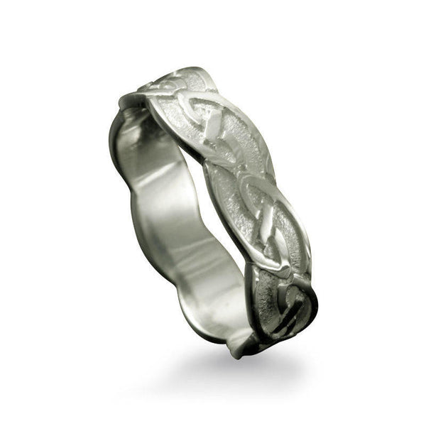 Fetlar Celtic Knotwork Ring in Platinum