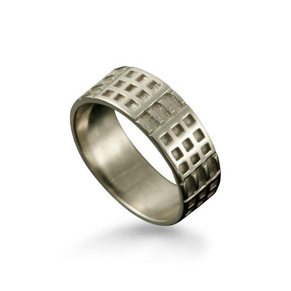 Charles Rennie Mackintosh Art Deco Ring in White Gold