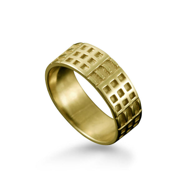 Charles Rennie Mackintosh Art Deco Ring in Yellow Gold