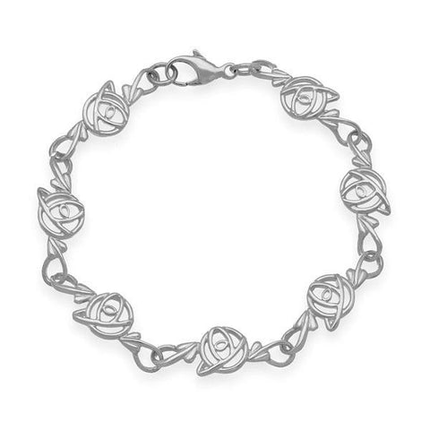 Rennie Mackintosh Art Nouveau Bracelet in Silver