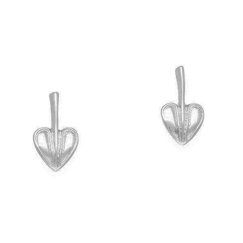 Rennie Mackintosh Leaf Stud Earrings in Silver