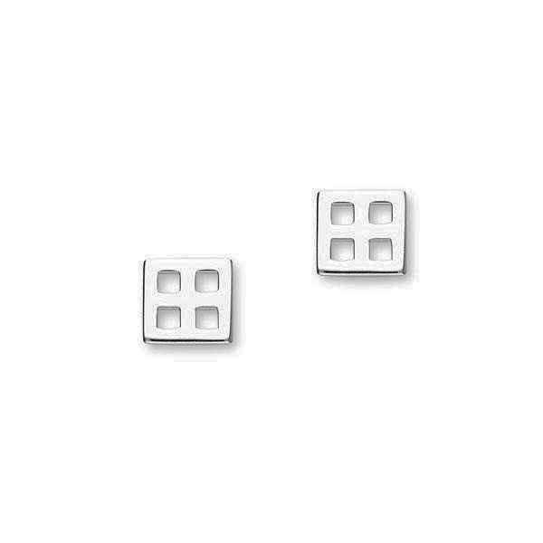 Rennie Mackintosh Modern Square Stud Earrings in Silver