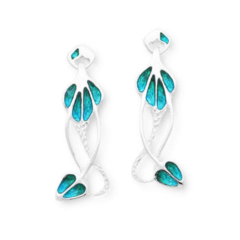Rennie Mackintosh Turquoise Drop Earrings in Silver