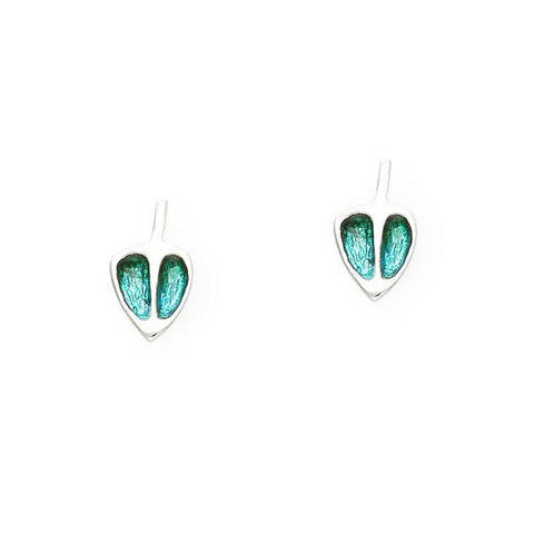 Rennie Mackintosh Turquoise Stud Earrings in Silver