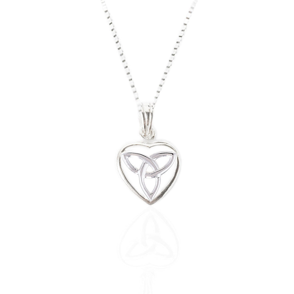 Sterling Silver Small Trinity Heart Pendant