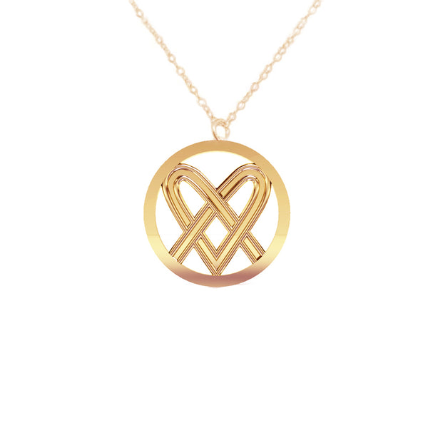 Celtic Saltire Heart Pendant in gold