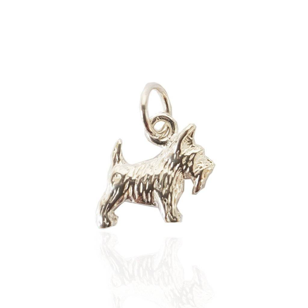 Scottie Dog Charm in Silver