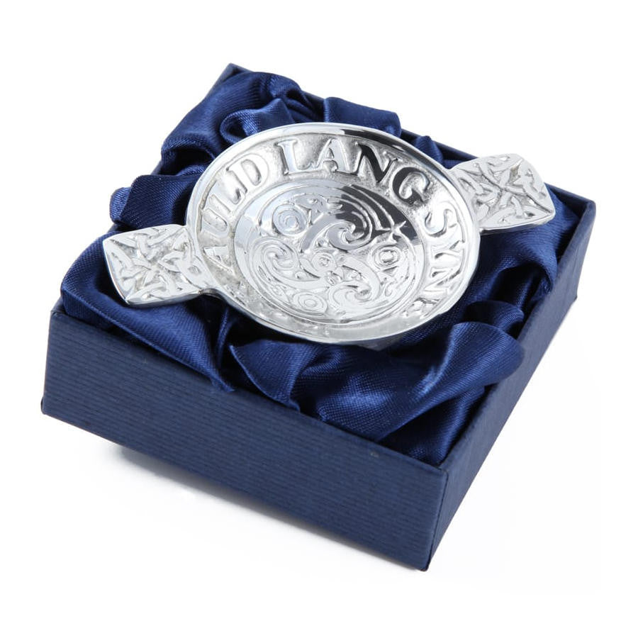Scottish Auld Lang Syne Mini Quaich In Pewter