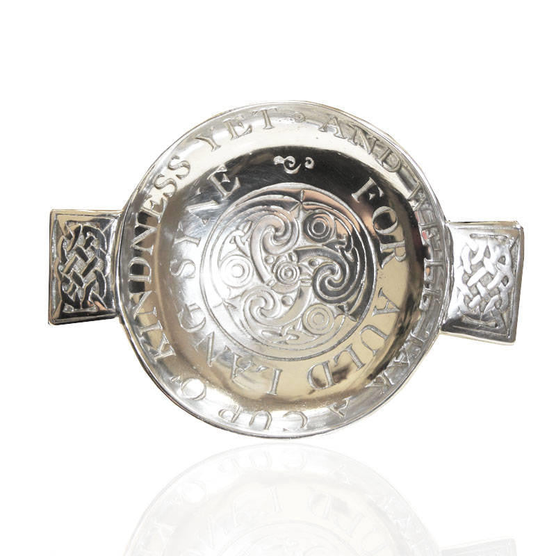 Scottish Auld Lang Syne Quaich In Pewter