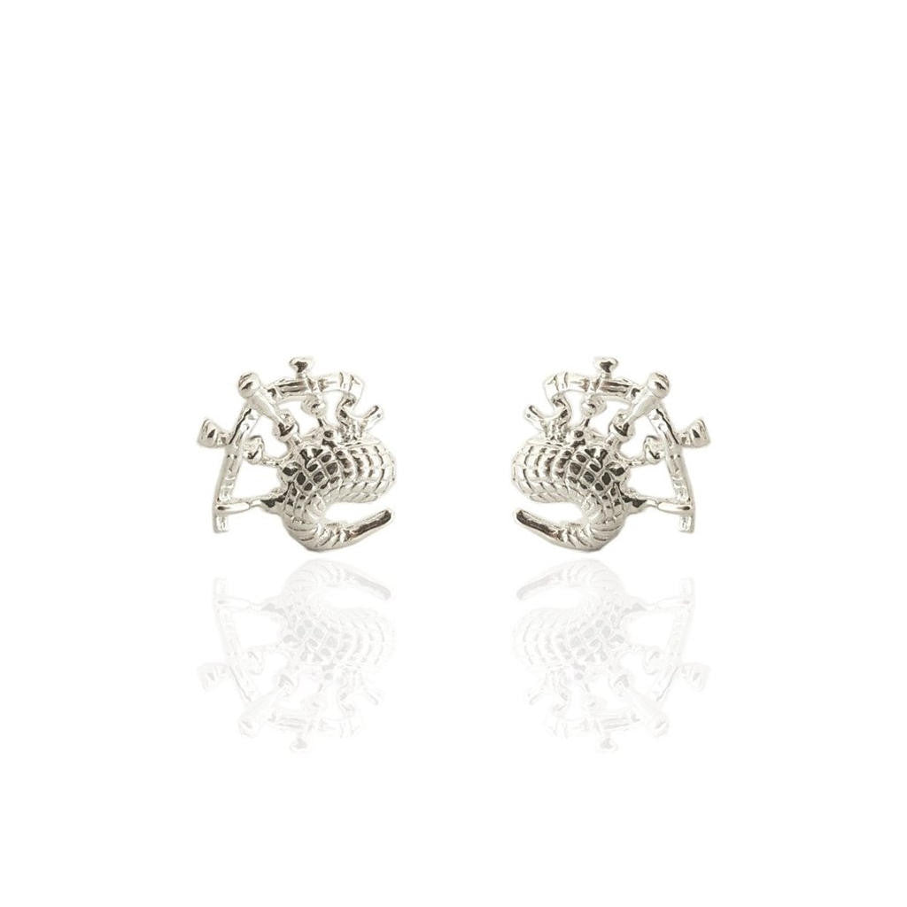Scottish Bagpipes Stud Earrings