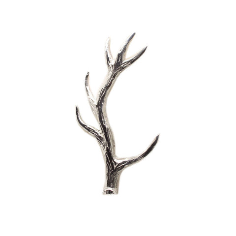 Scottish Stag Deer Antler Kilt Pin In Pewter