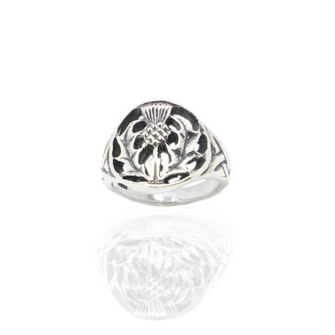 Scottish Thistle Ring in Silver
