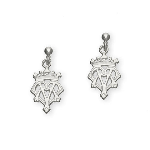 Scottish Traditional Luckenbooth Drop Earrings in Silver