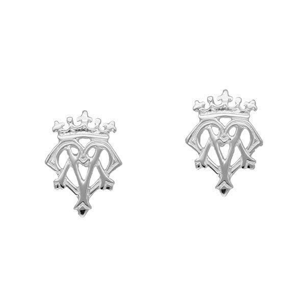 Scottish Traditional Luckenbooth Stud Earrings in Silver