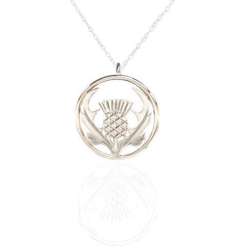 Round Scottish Thistle Necklace