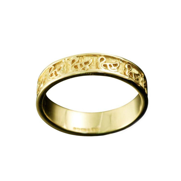 Celtic Bressay Swan Ring in Yellow Gold