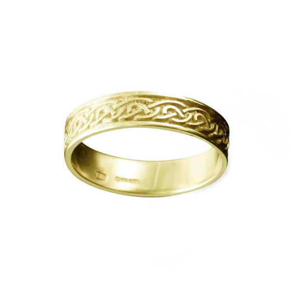 St. Ninian's Celtic Knotwork Ring in Yellow Gold